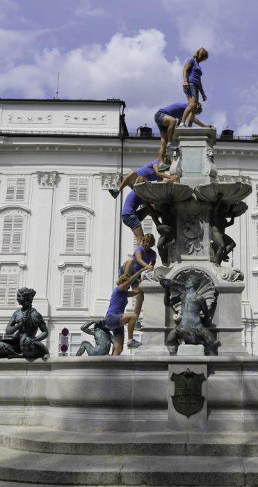 erklettern des Leopoldsbrunnen
