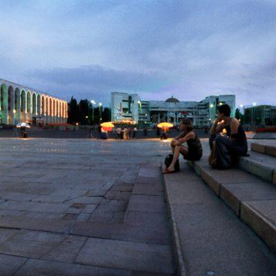 Christine Prantauer und Lies Bielowski in Bischkek