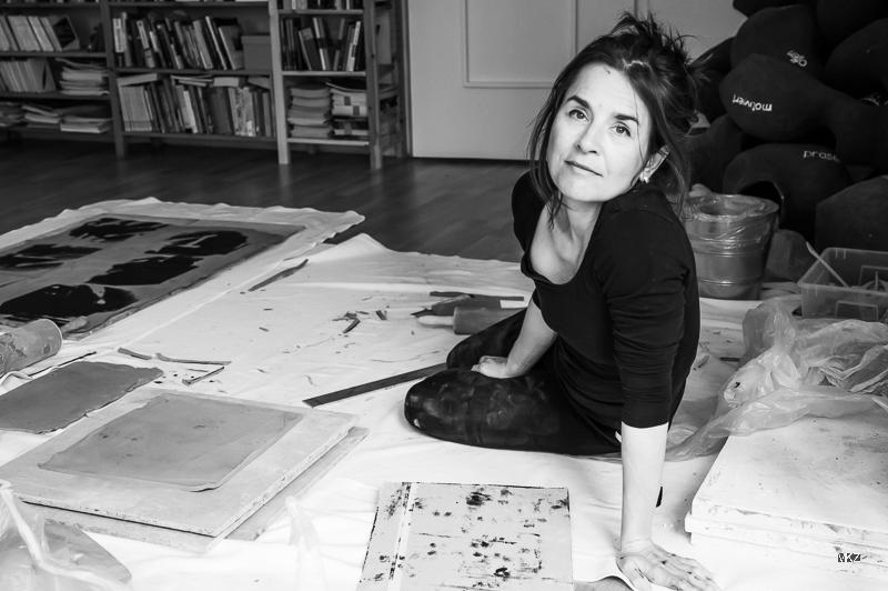 Judith Klemenc, im Atelier